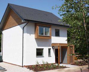 dom wybudowany w całości z konopi w Anglii