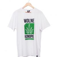 Koszulka Biała Wolne Konopie